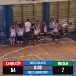 U12 Mecz o III miejsce Basket 4Ever Ksawerów – Widzew Łódź 54 : 7