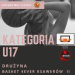 U17 Widzew Łódź – Basket 4EVER Ksawerów II 105 : 34 (32:7, 24:10, 26:14, 23:3)